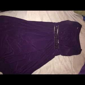Deep purple maxi homecoming dress